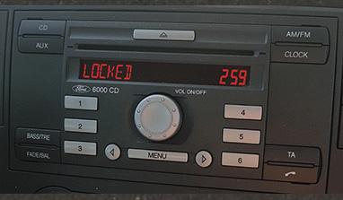 ford 6000 cd radio locked