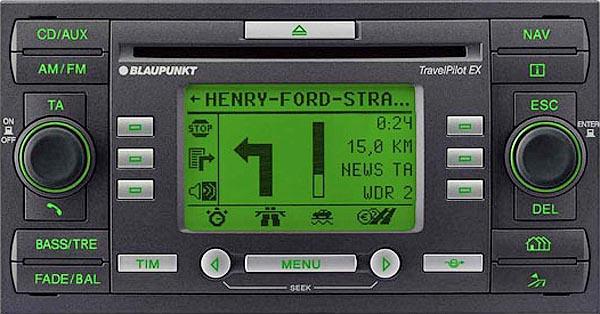 ford travelpilot ex c214 2008 2012 radio navigation