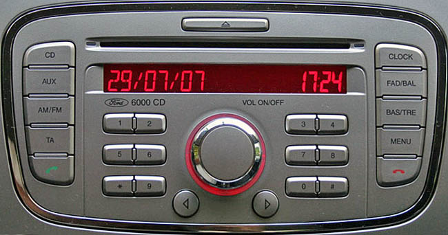 ford 6000 cd radio kw2000 2008 to 2012