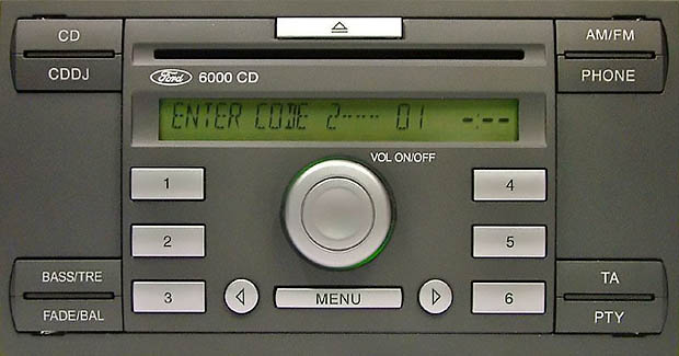 ford 6000 cd radio 2004 to 2007
