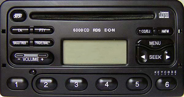 ford 6000 cd rds eon radio 1998 to 2003