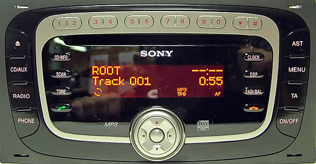 ford sony cd3xx radio 2008 2012