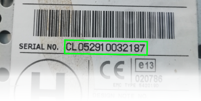 nissan clarion radio serial number